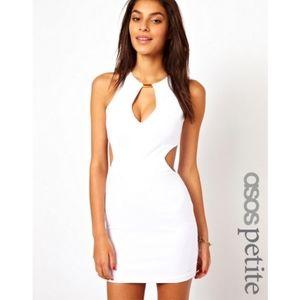 Asos White Cut Out Sides bodycon dress